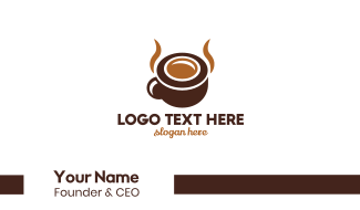 Brown Coffee Horns Business Card