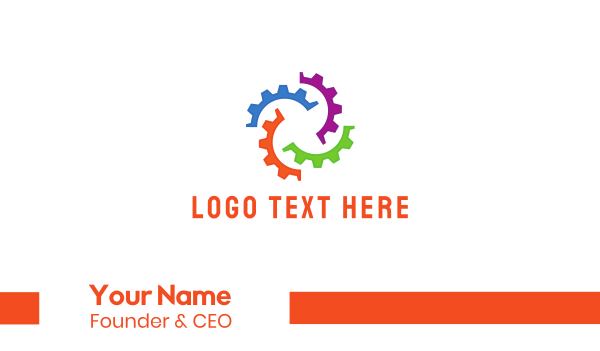 carbon-cleaning - Colorful Gear Business card horizontal design