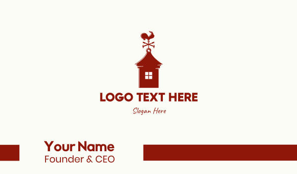 hammer - Red Weathercock Business card horizontal design