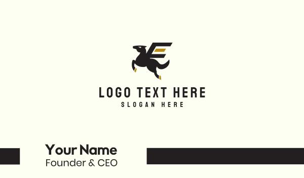 horse brand - Pegasus Horse Business card horizontal design