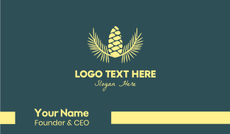 Yellow  Acorn Business Card