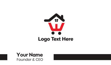 House Cart Outline Business Card