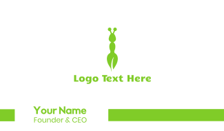 Green Eco Ant Business Card