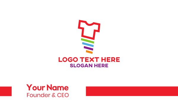 tshirt printing - Colorful T-shirt Business card horizontal design
