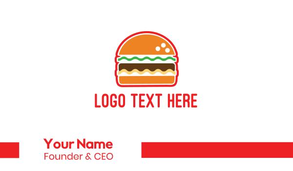 american - American Burger Business card horizontal design