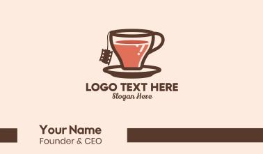 Film Tea Cup  Business Card