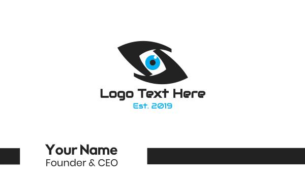 evil eye - Abstract Eye S Business card horizontal design