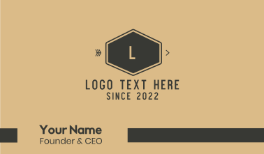 Brown Hexagon Business Card