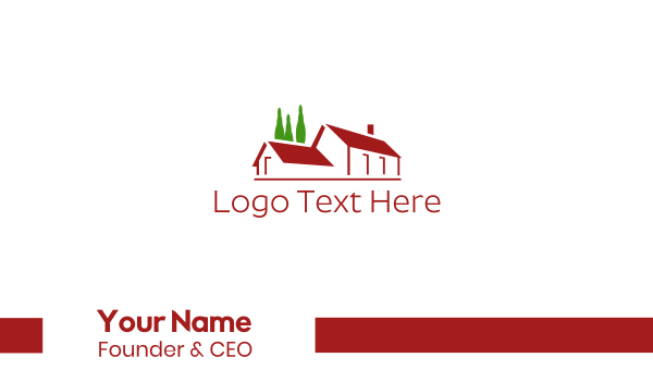 roof - Big Red House Business card horizontal design