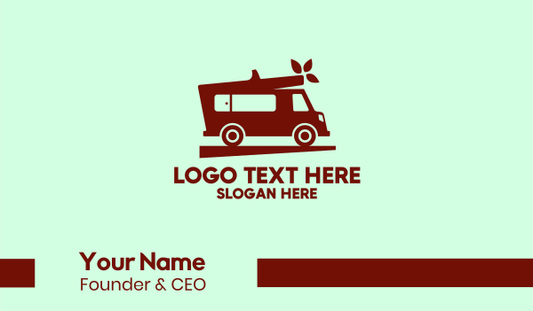 movers - Simple Moving Van Business card horizontal design