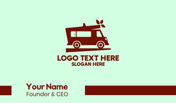 transport service - Simple Moving Van Business card horizontal design