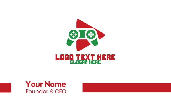 game review - Gamer Streaming Business card horizontal design