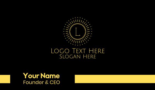 sunray - Yellow Sun Lettermark Business card horizontal design