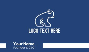 Abstract Polar Bear Cub Business Card