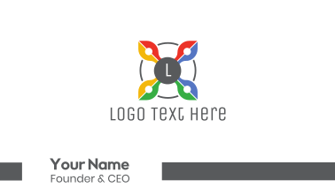 Colorful Drone Lettermark  Business Card