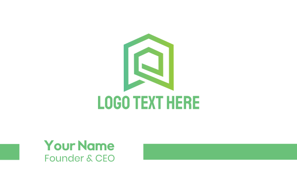 labyrinth -  Green House Roofing & Siding Business card horizontal design