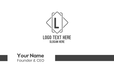 Simple Square Letter Business Card