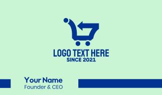 Fast Supermarket Cart  Business Card