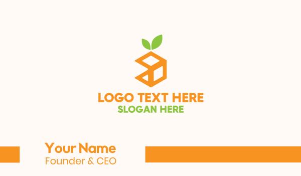 nutritious - Orange Cube Business card horizontal design