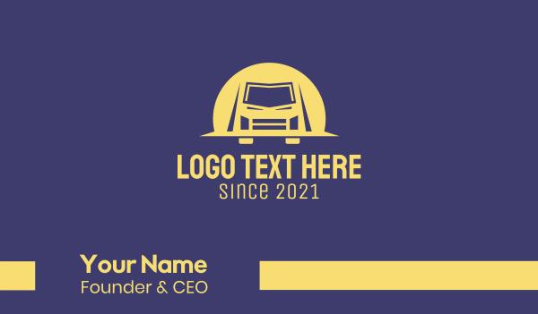 blue and yellow - Van Truck Transport Business card horizontal design