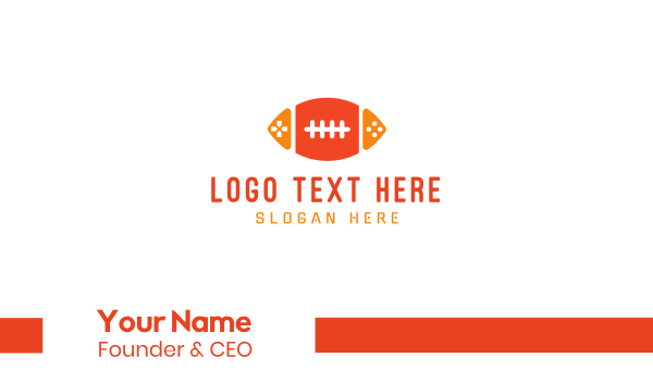 nfl-cards - Football Gaming Business card horizontal design