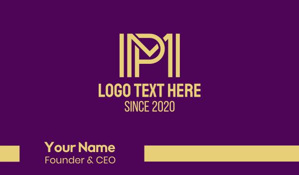 staffing-agency - Modern Yellow MP Business card horizontal design