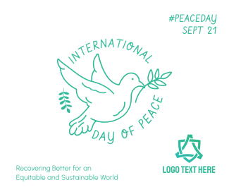 Peace Dove Outline Facebook post