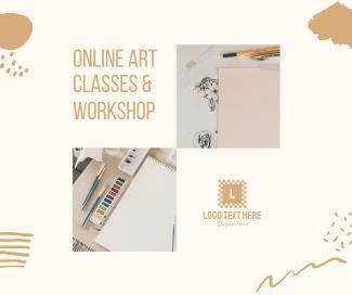 Online Art Classes & Workshop Facebook post