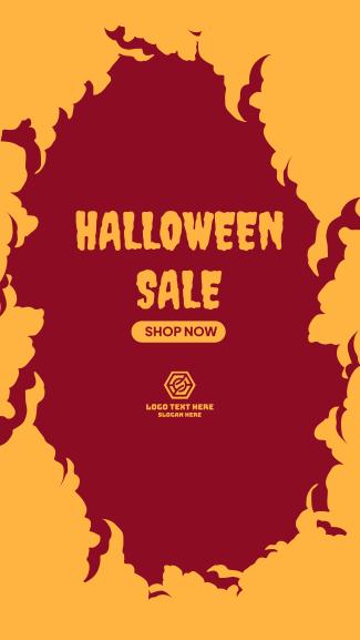 Halloween Sale Facebook story