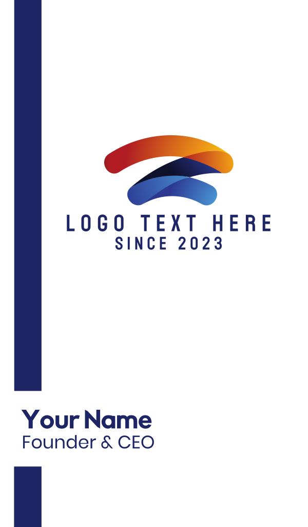 Letter Z Wifi Tech Business Card
