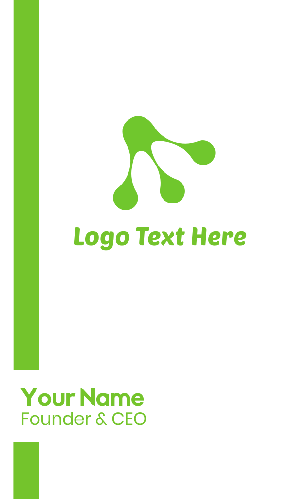 Green Frog Pad Business Card