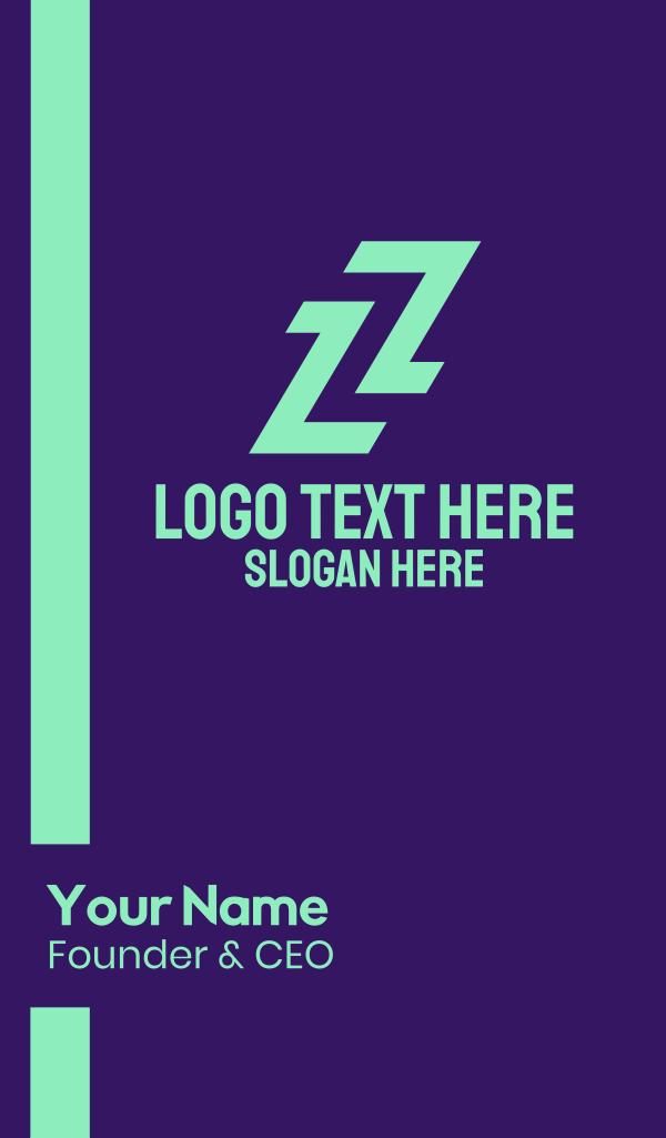 Sporty Letter Z Business Card