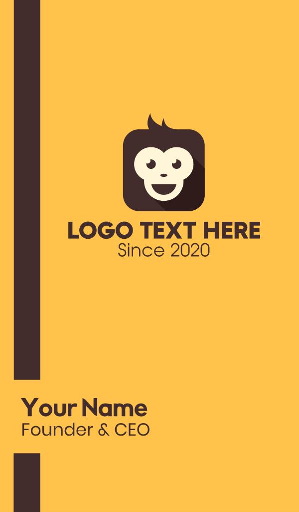 Monkey Mobile App Business Card