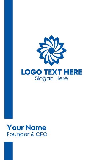 Blue Flower Business Card