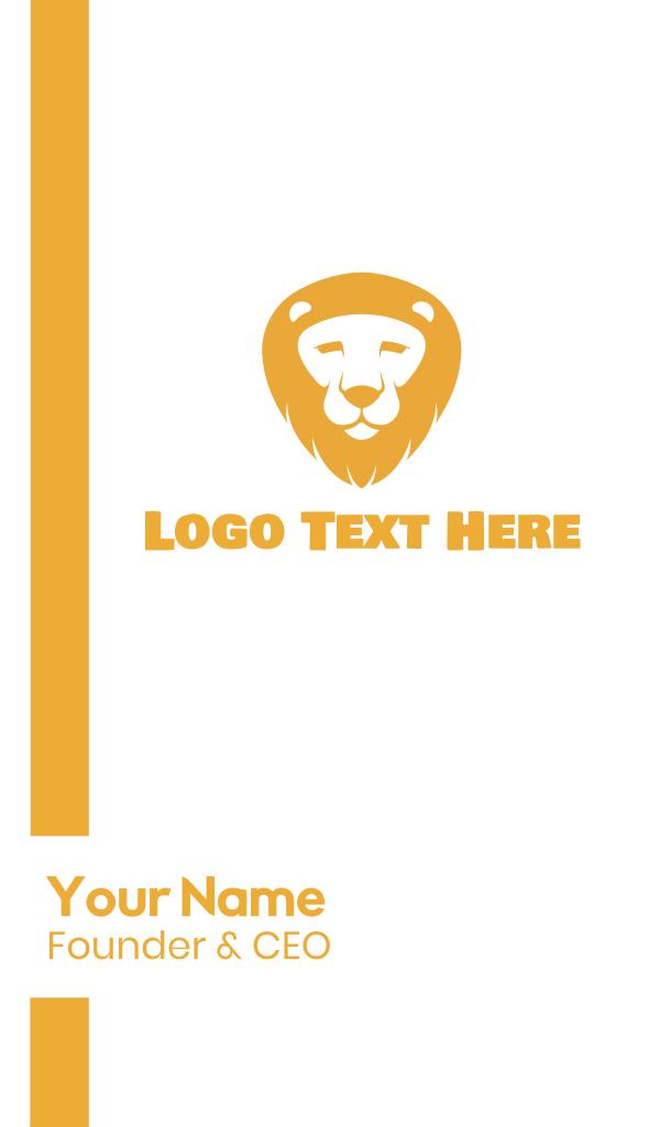 Golden Lion Face Business Card
