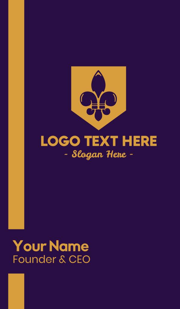 Fleur De Lis Emblem Business Card