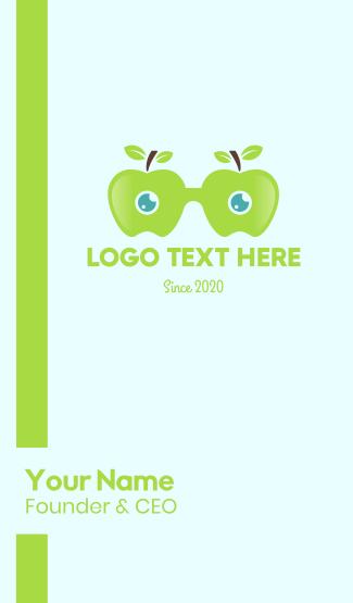 Apple Eyeglasses Business Card