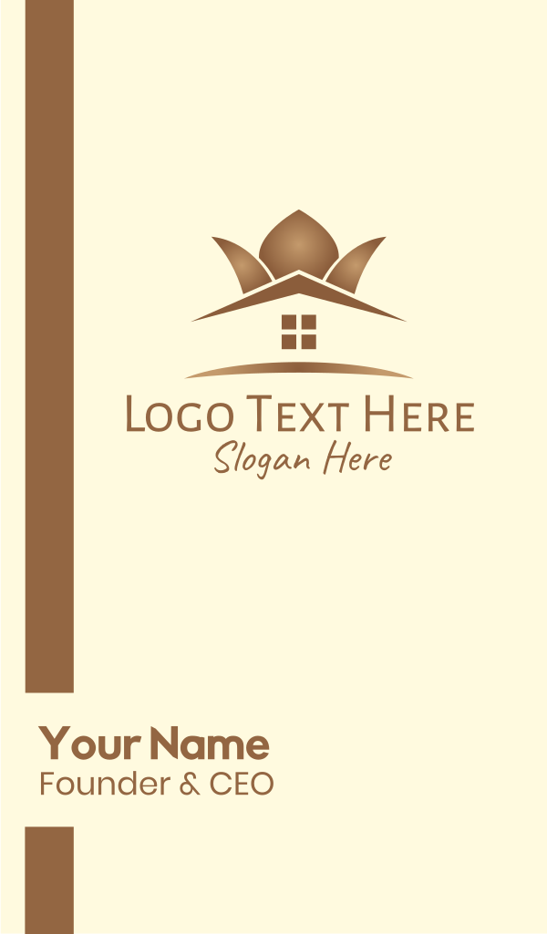 Elegant Brown Home Furnishing Business Card