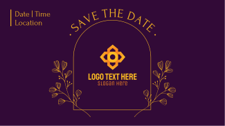 Simple Save the Date Facebook event cover