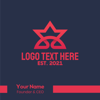 Simple Star Business Business Card