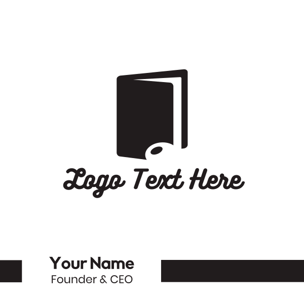 Music Note Book Business Card