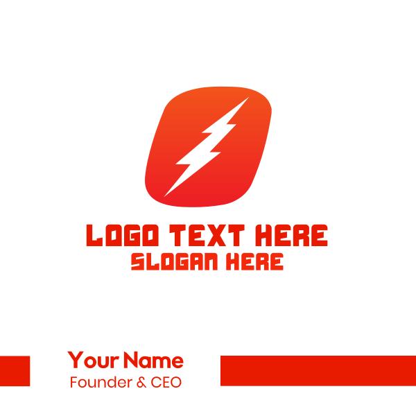 Lightning  Letter O Business Card