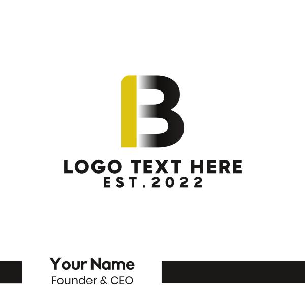 Black & Gold Letter B Business Card