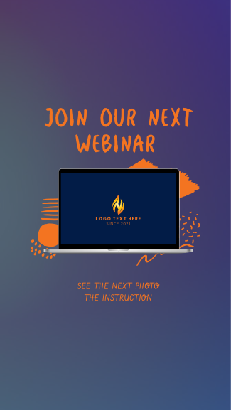 Join Our Next Webinar Facebook story