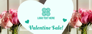 Valentine's Day Sale Facebook cover