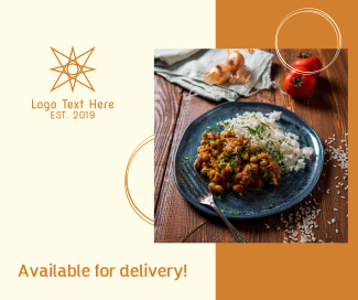 Meal Delivery Facebook post