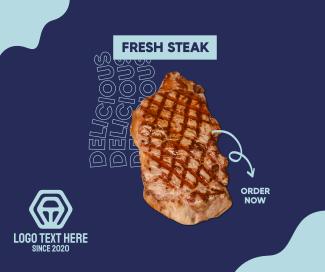 Fresh Steak Facebook post
