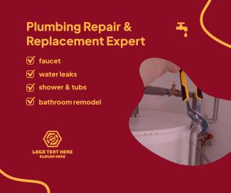 Plumbing Repair Service Facebook post