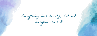 Beauty Watercolor Facebook cover