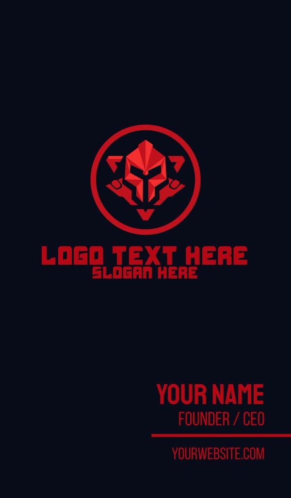 Red Robot Emblem Business Card